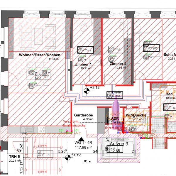 4-Raum Wohnung mit Balkon